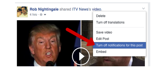 Facebook Tricks and Features -- Disable Notifications