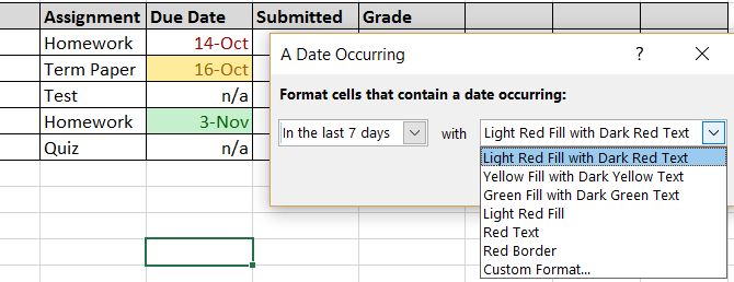 how to make pretty spreadsheets formating