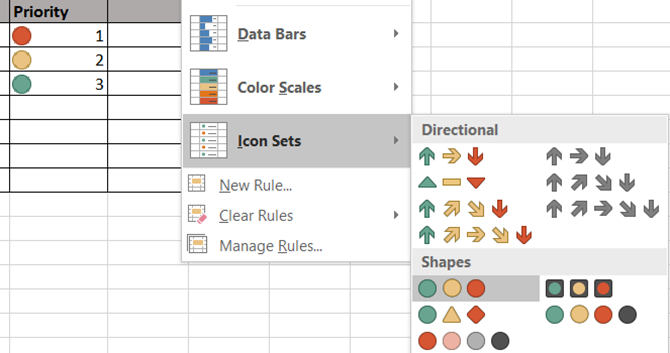Excel Conditional Formatting -- Work Priority