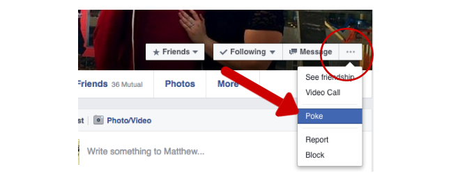 Facebook Tricks and Features -- Poke