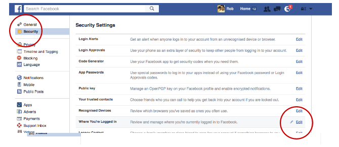 Facebook Tricks and Features -- Login Manager