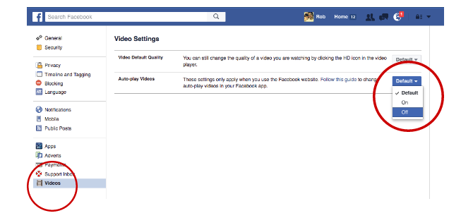 Facebook Tricks and Features -- Video Autoplay