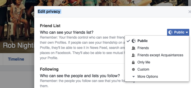 Facebook Tricks and Features -- Private Friends List