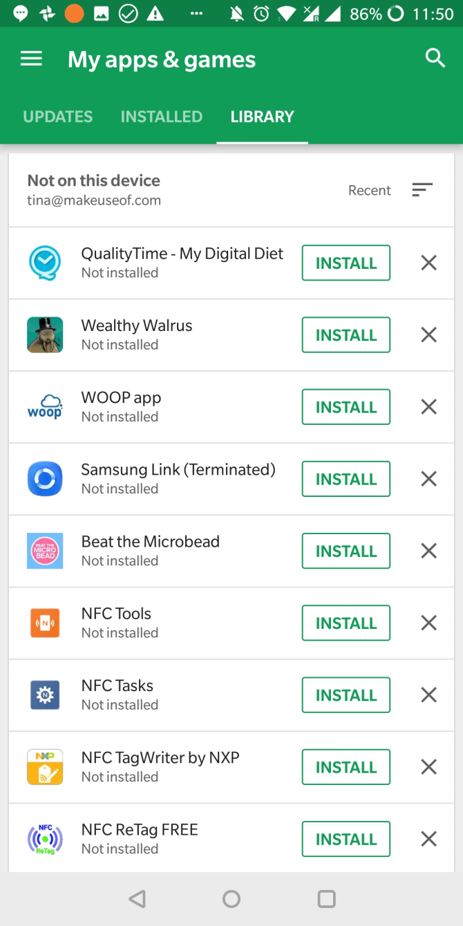 How To Manage Multiple Google Or Gmail Accounts On Android See Attached Picture It Has Several Switches You May Have One Of The Thus This Is Where Can Find Apps Youve Used In Past Possibly Another Device And Install Them Unfortunately No Longer Bulk
