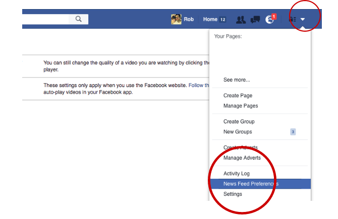 Facebook Tricks and Features -- News Feed Preferences