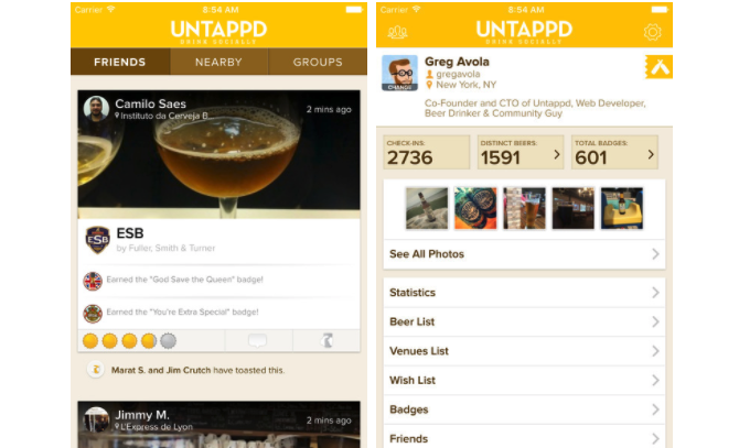 iOS Apps Untappd