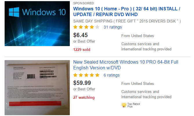 Need a legal cheap windows license these are your options windows 10 license ebay fandeluxe Choice Image