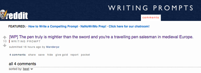 Reddit Creative Writing Prompts