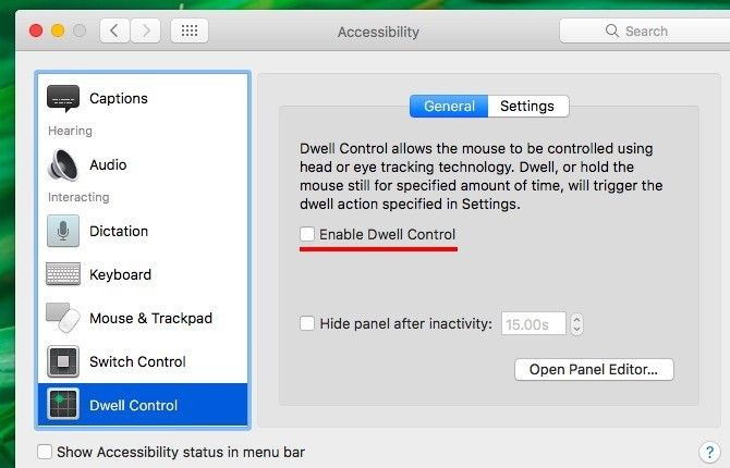 Enable Dwell Control