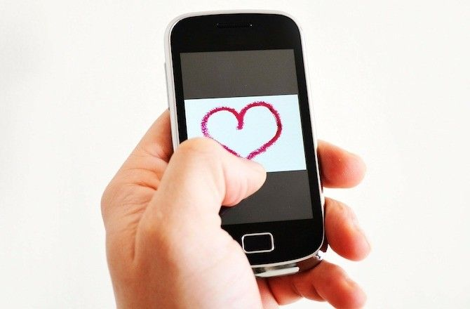 Heart Favorite on Mobile Phone