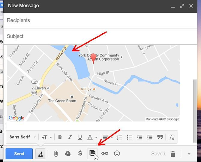 Map Embedded Into Gmail Compose