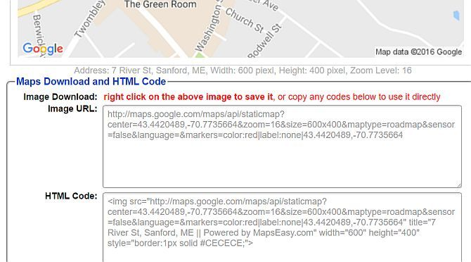 Google Map Download and Embed