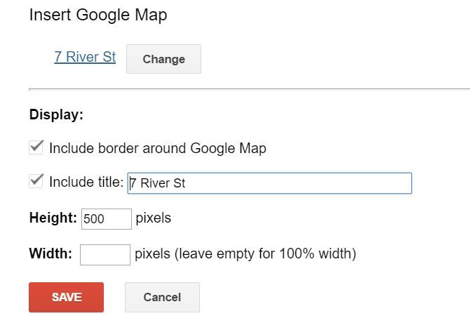 Inserting Google Map Into a Site