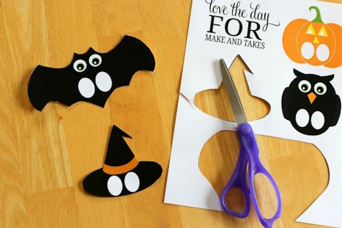 Halloween Printables -- Finger Puppets