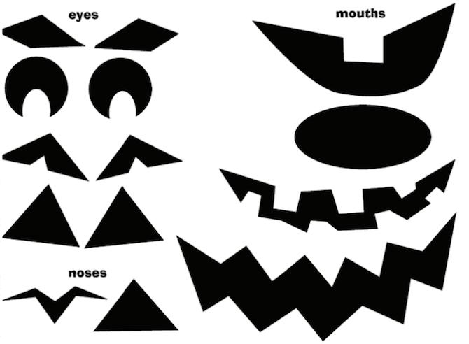halloween printables jack olantern parts - Halloween Traceables