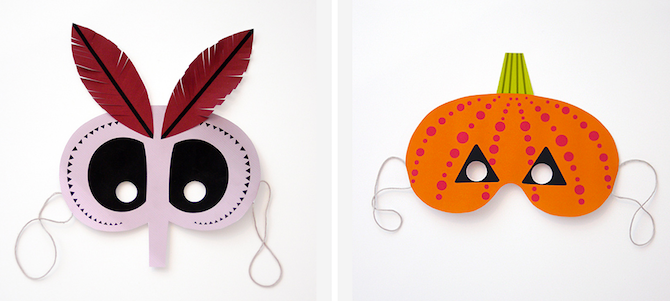 Halloween Printables -- Monster Masks