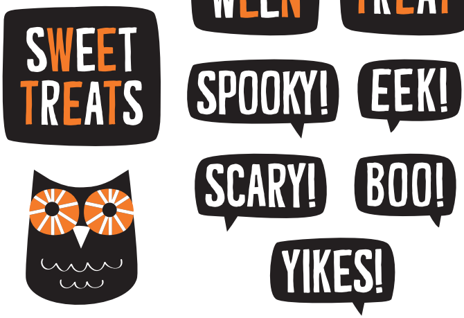 Halloween Printables -- Labels and Stickers