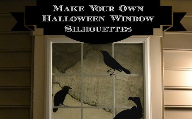 Halloween Printables -- Window Silhouettes