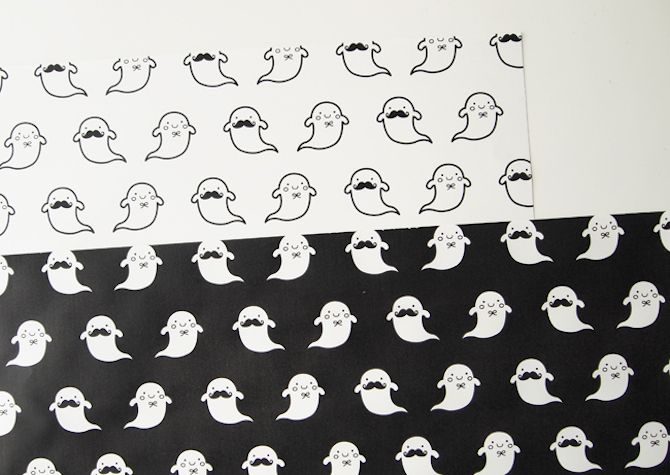 Halloween Printables -- Ghouls Wrapping Paper