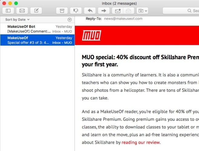 Mac Mail -- New Look