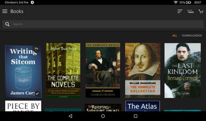 Amazon Fire 7 Library