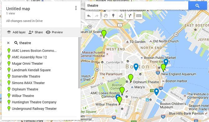 Google Maps Layer Theaters