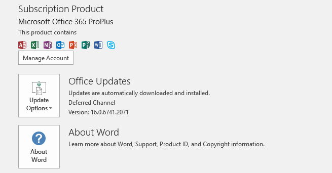 Microsoft Office Updates