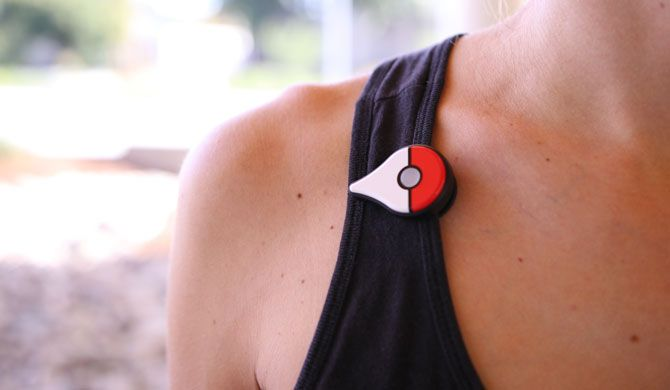 Pokemon GO Plus Worn on Lapel