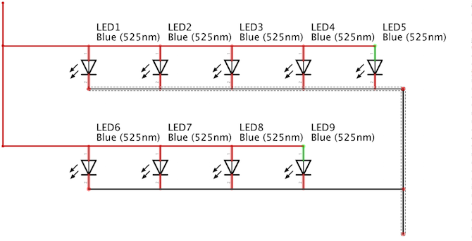 Shortcut Button LEDs Circuit