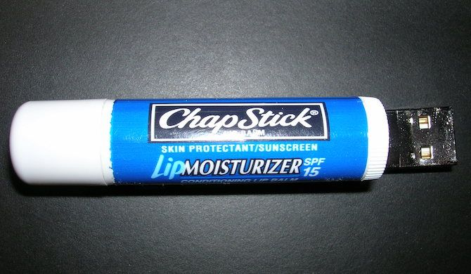 USB Disguised as Chapstick or Lipstick