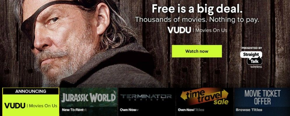 Vudu Offers 1,000+ Free Movies On Us