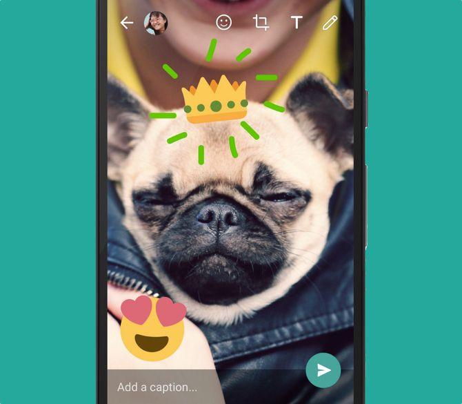 WhatsApp New Feature -- Image Editing Emojis