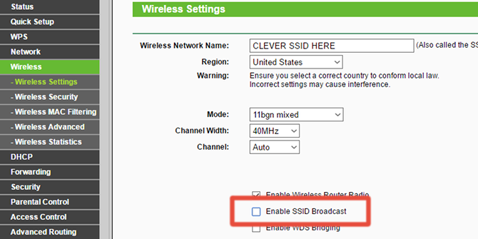 Disable your router's SSID broadcast