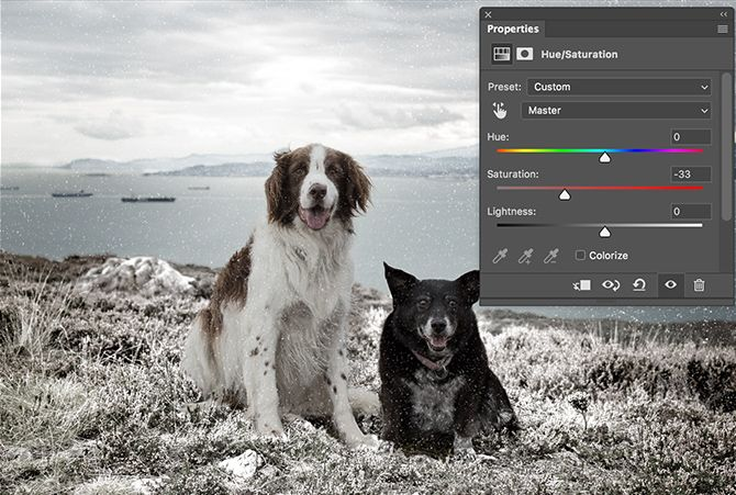 Photoshop Saturation Settings