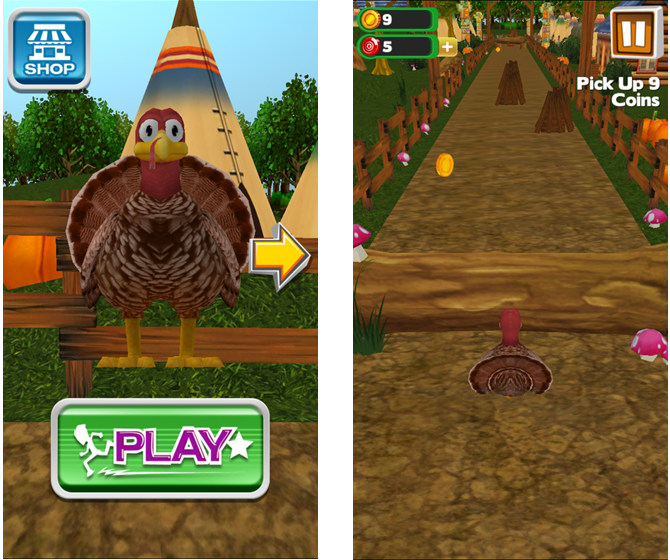 3D Turkey Run iPhone