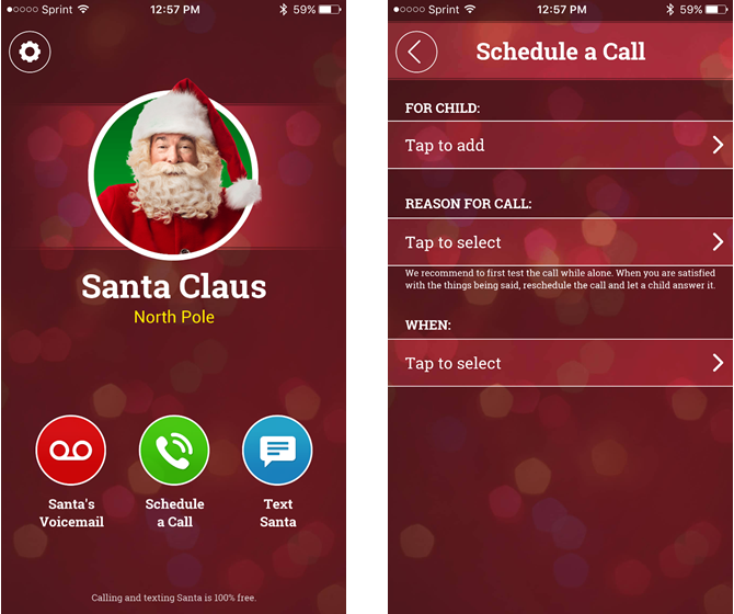 a call from santa iphone