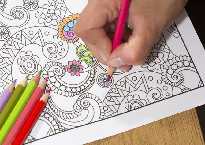 Adult Coloring Book With Pencil
