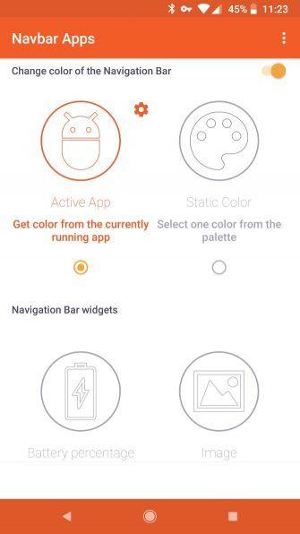 Wie bekomme ich eine farbige Navigationsleiste auf Android ohne Root