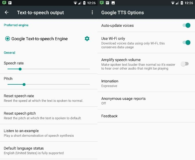 Android-Text-to-Speech-Settings
