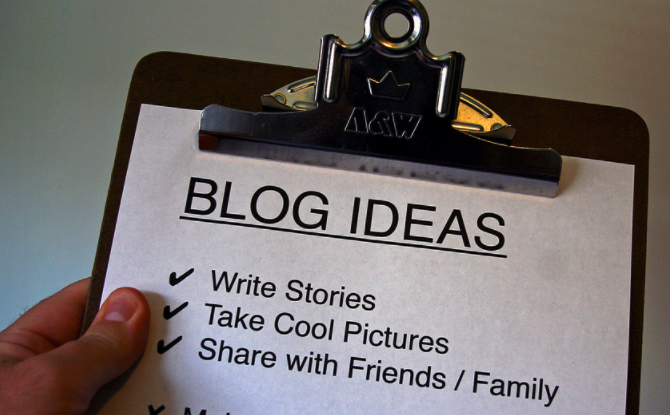 List of Blog Ideas