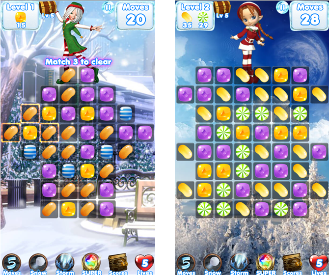 candy christmas countdown iphone