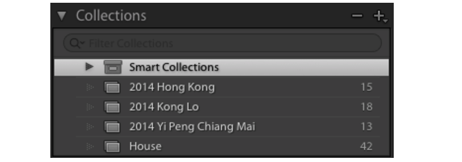 Collections in Lightroom