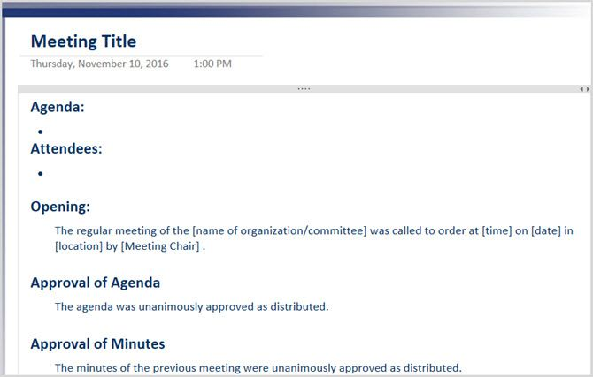 The 12 best meeting minutes templates for professionals for Email template to schedule a meeting