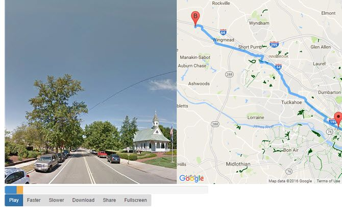 Google Maps Streetview Player