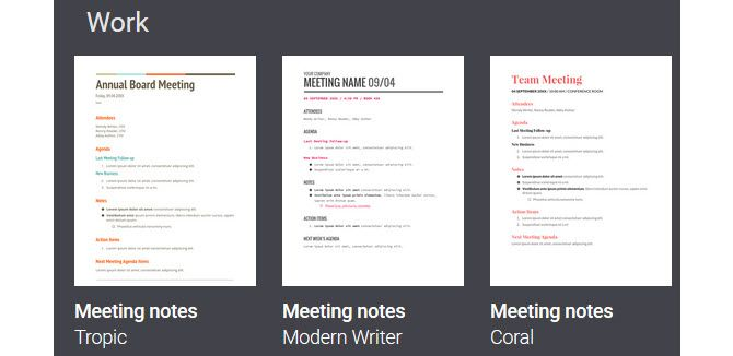 templates for minutes of a meeting