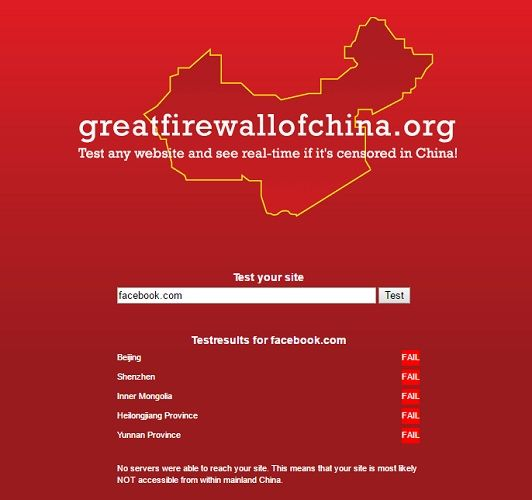 great firewall of china facebook