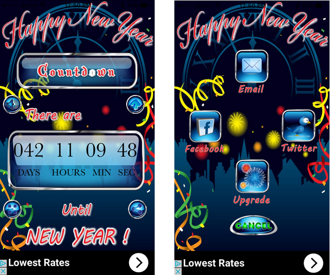 happy new year countdown begins iphone