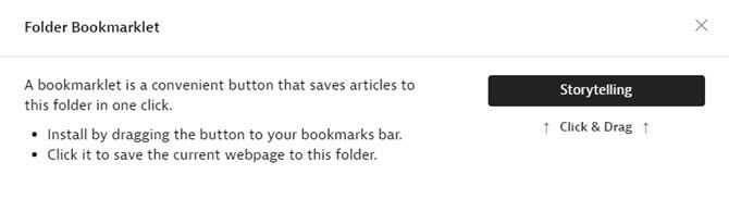 Instapaper Folder Bookmarklet