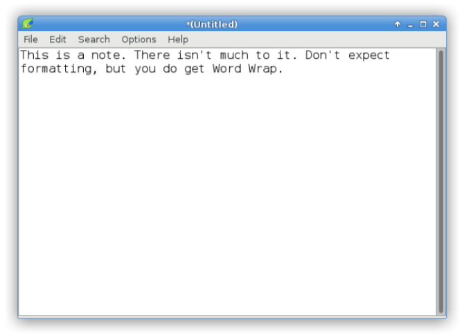 Lightweight Linux Software -- Leafpad Text Editor