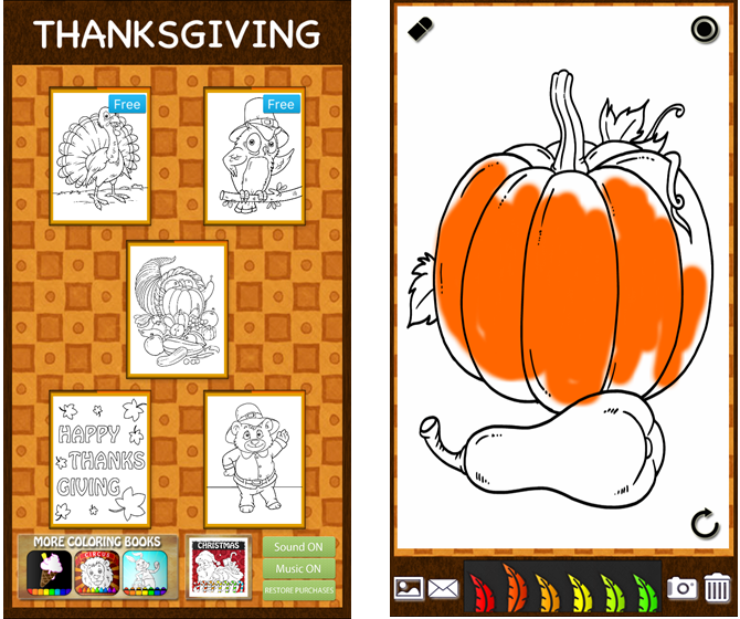 Thanksgiving Coloring Book iPhone